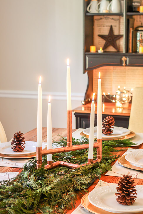 copper-pipe-centerpiece-on-holiday-table