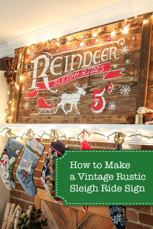 How to Make a Vintage Rustic Sleigh Ride Sign | Pretty Handy Girl How cool! You can use this technique to make or transfer any sign graphic.