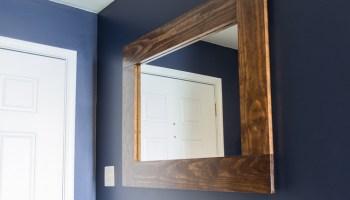 30 amazing diy decorative mirrors pretty handy girl diy wood framed mirror tutorial solutioingenieria Image collections