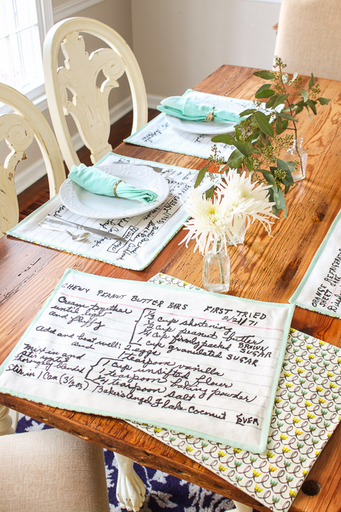 How to Sew Reversible Recipe Card Placemats | Pretty Handy Girl