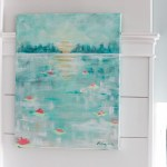 How to Paint an Abstract Water Lilies Painting   Pretty Handy Girl