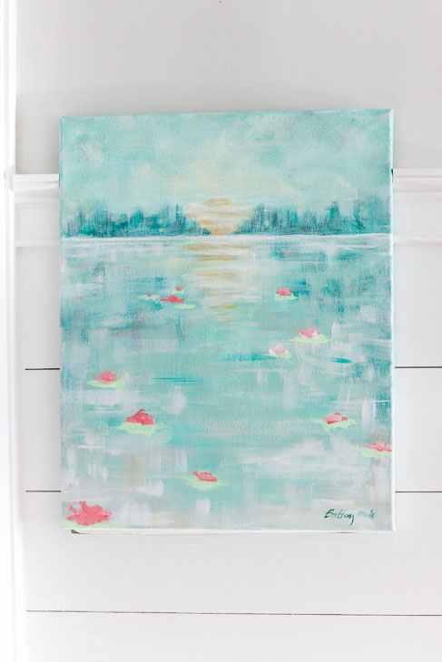 How to Paint an Abstract Water Lilies Painting | Pretty Handy Girl