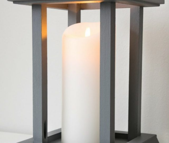 This Diy Candle Lantern Was Easy To Make With Leftover Trim