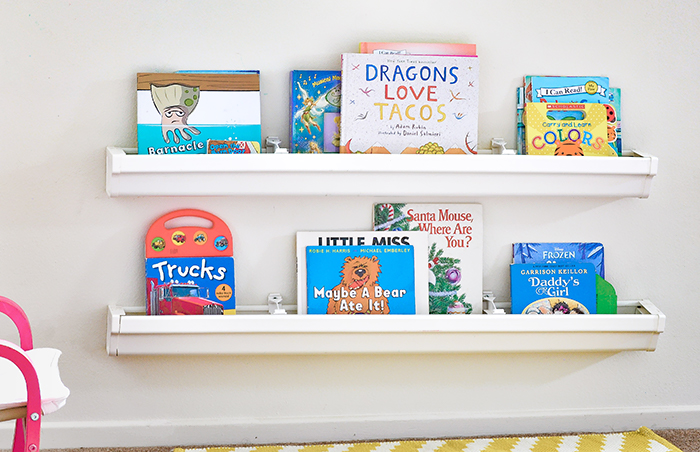 Rain Gutter Book Storage