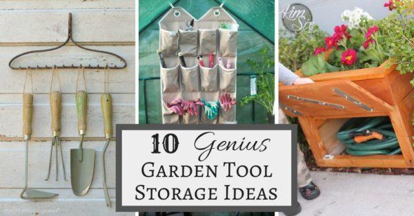 Get organized with these 10 genius garden tool storage ideas!