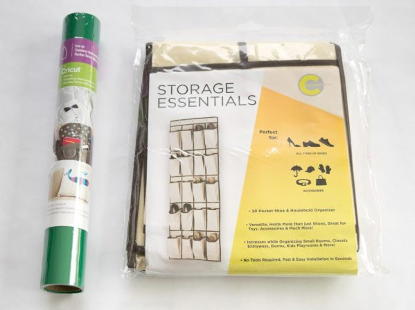 These are all the supplies you'll need to make a hanging garden tool organizer!