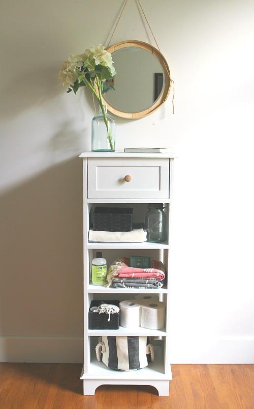 DIY Cute Bathroom Linen Cabinet
