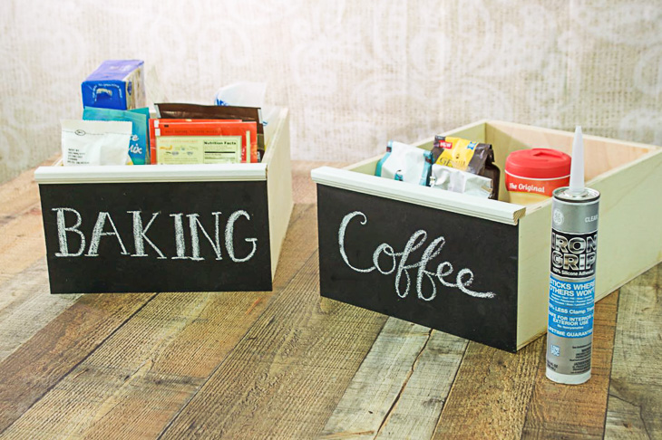 Make Your Own Chalkboard Front Drawers | Organized Pantry | Pretty Handy Girl