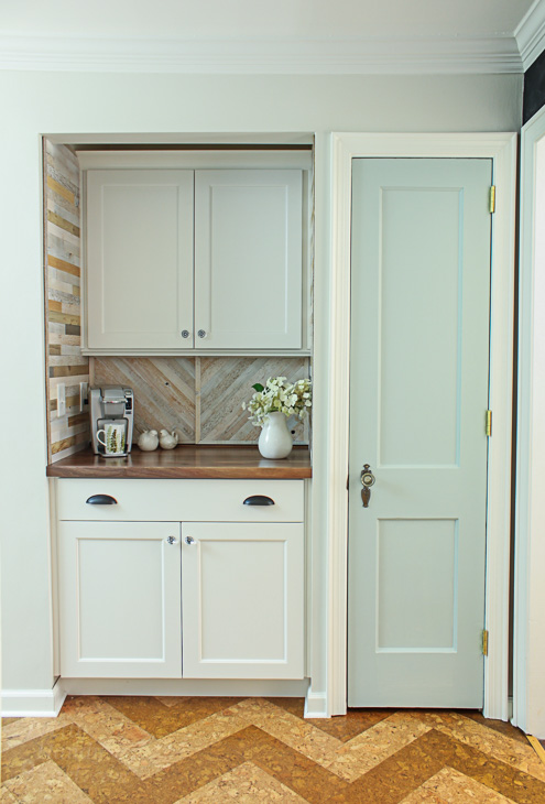Pantry with Coffee Bar and Hidden Wine Storage   Pretty Handy Girl