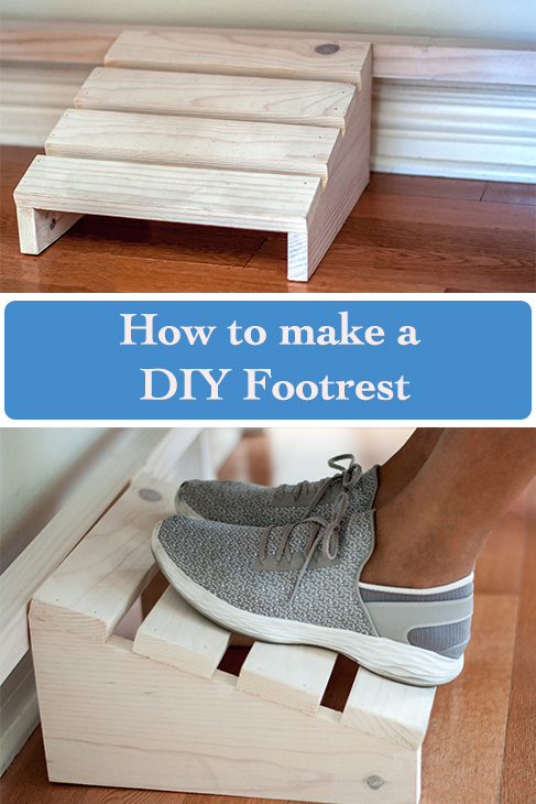 Easy DIY footrest using scrap wood