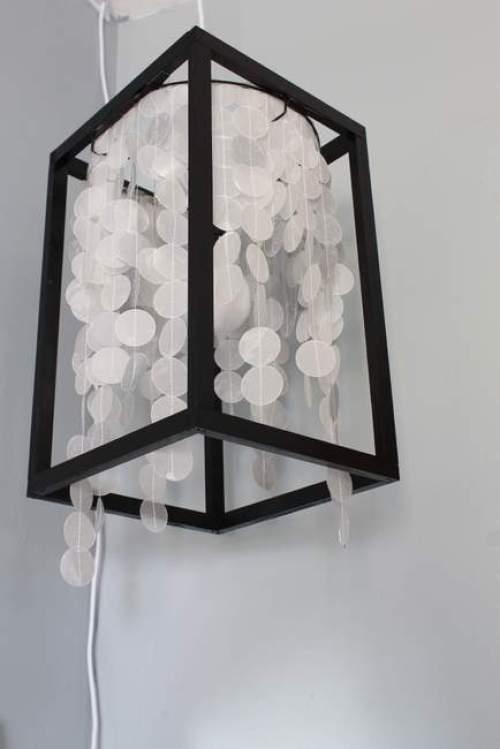 Capiz Shell Light Fixture - Best Lighting DIYs - Pretty Handy Girl