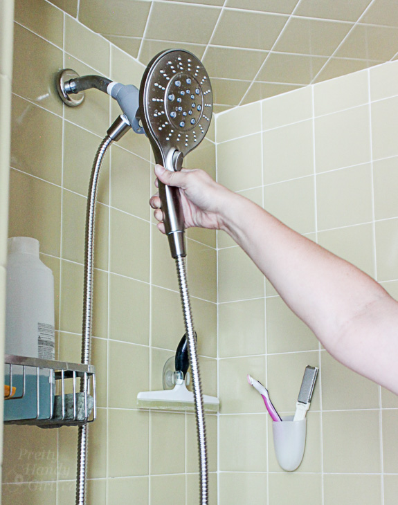 magnetic Moen shower head