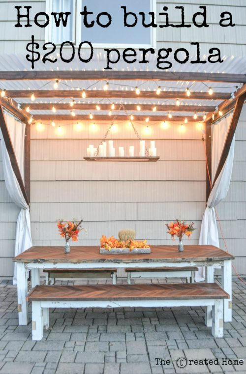 DIY Frugal Pergola by The Created Home