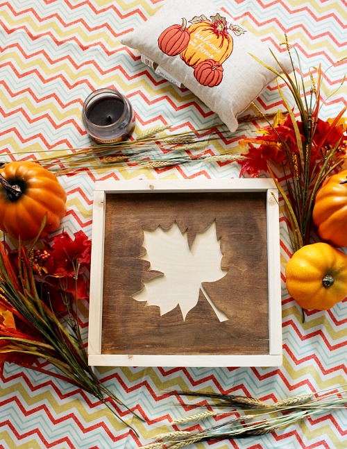 How to make an easy scrap wood fall sign