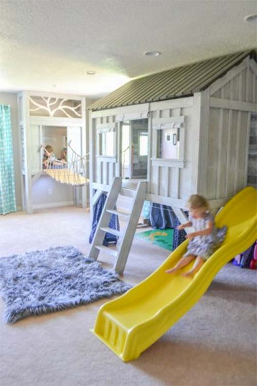 Cabin Themed Playroom by The Created Home