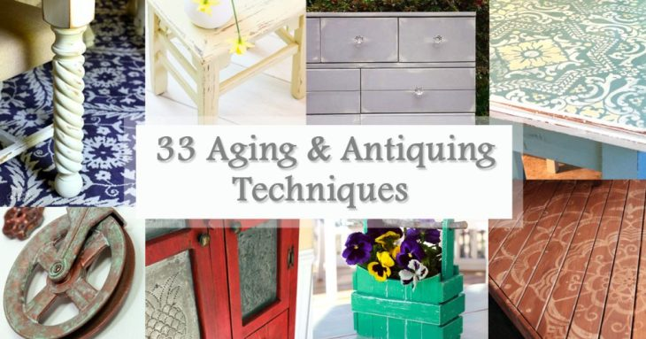 Aging and Antiquing Finishes Roundup Social Media Image