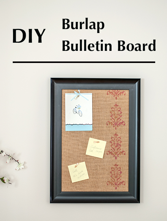 How to make a DIY burlap covered bulletin board