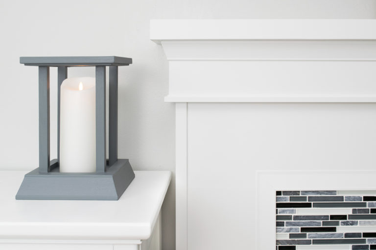 DIY candle lantern final with fireplace