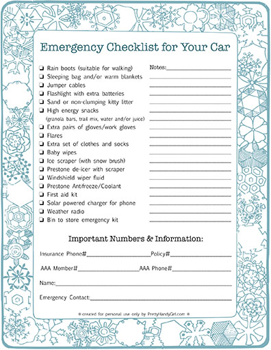 Emergency Kit Checklist for your Car