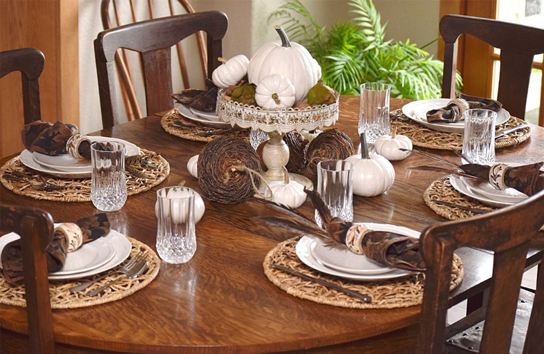 White Wood Fall Tablescape TimelessCreationsMN