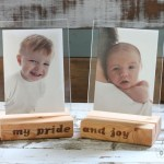 Floating Wood Block Picture Frames  {Lowe's Creative Idea}