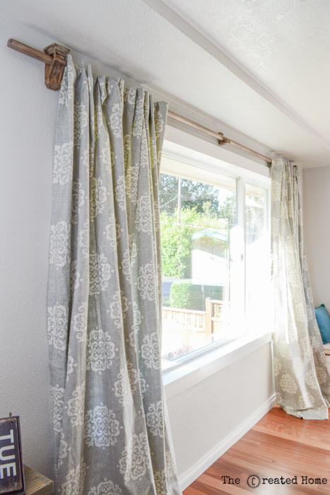 diy corbel curtain rod hangers
