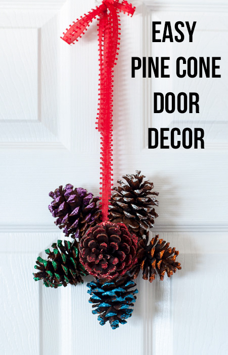 Add Sparkly Decor To Your Door This Christmas With This Gorgeous Door  Hanger Save. Easy Glittered Pinecone Door Hanger