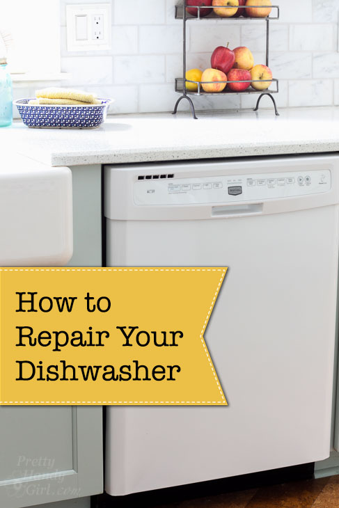 Fix Your Own Dishwasher and Save $$$s on appliance repairs. Yes, you can do this yourself! No experience required. #spon