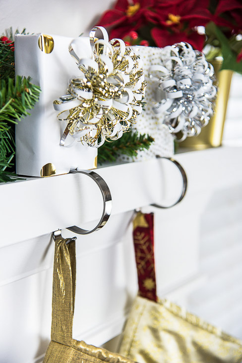 These stocking holders keep stockings secure and safe for children and pets.