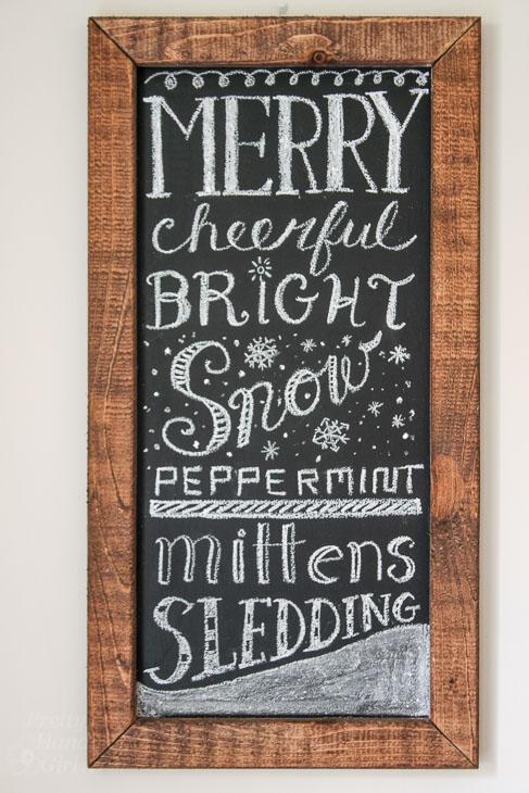 Free Winter Chalkboard Word Art!