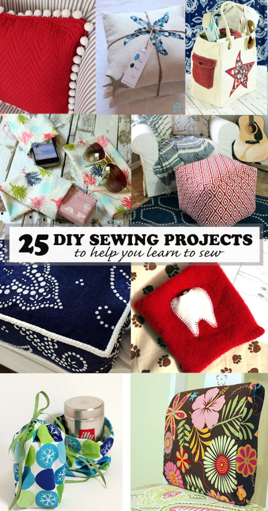 diy sewing projects to help you learn to sew pinterest image