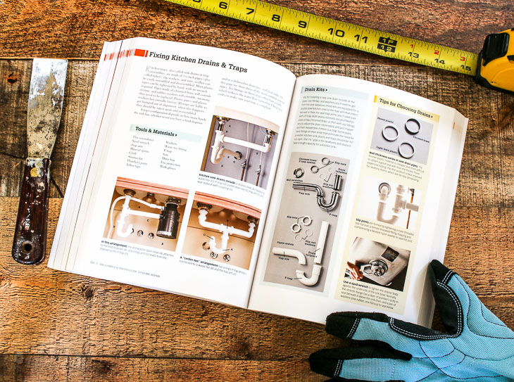 Home Repair book plumbing example