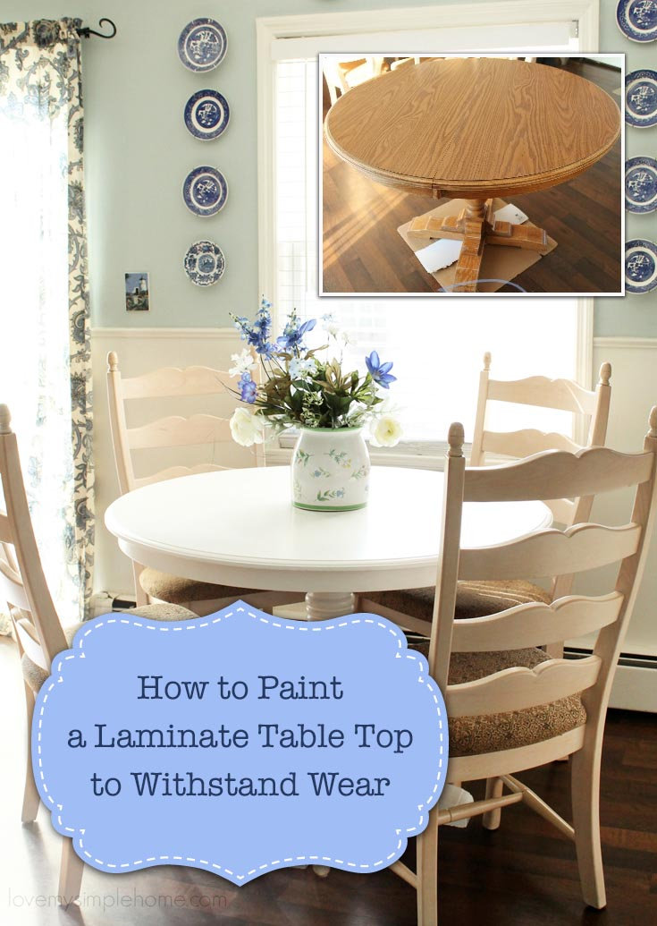 How To Paint A Laminate Table Top