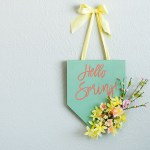Cheerful colorful spring plaque