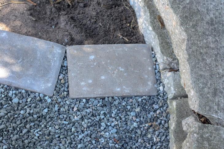 Installing Concrete Paver Edging - Pretty Handy Girl