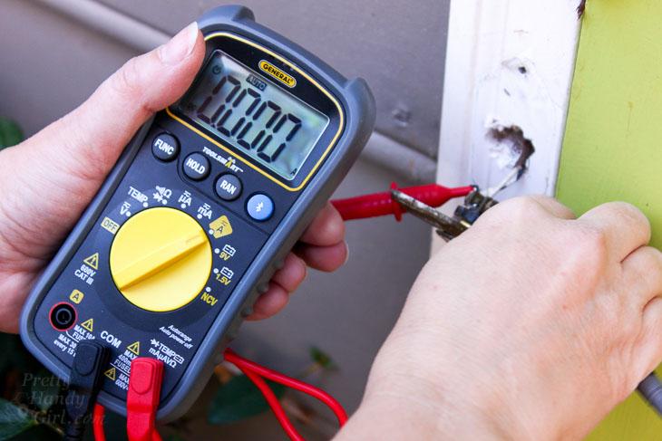 test power to doorbell