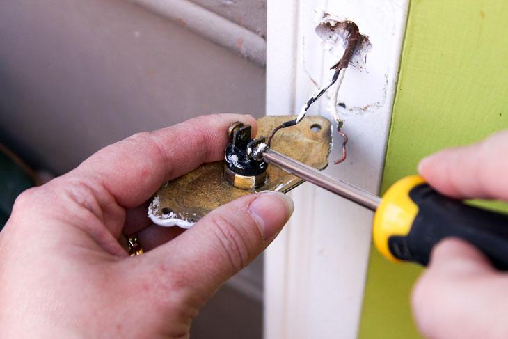 Remove old doorbell