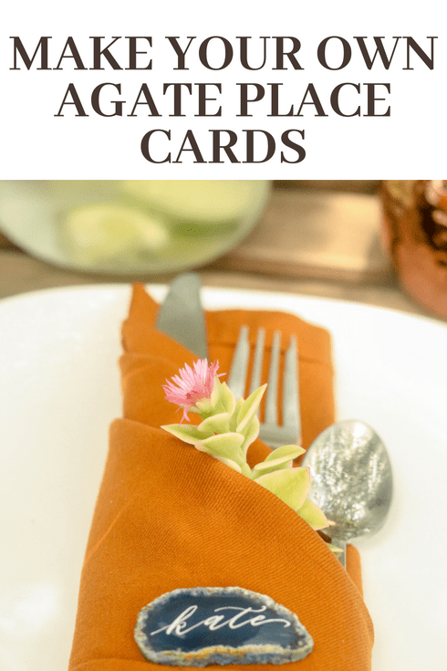 make your own agate place cards pretty handy girl