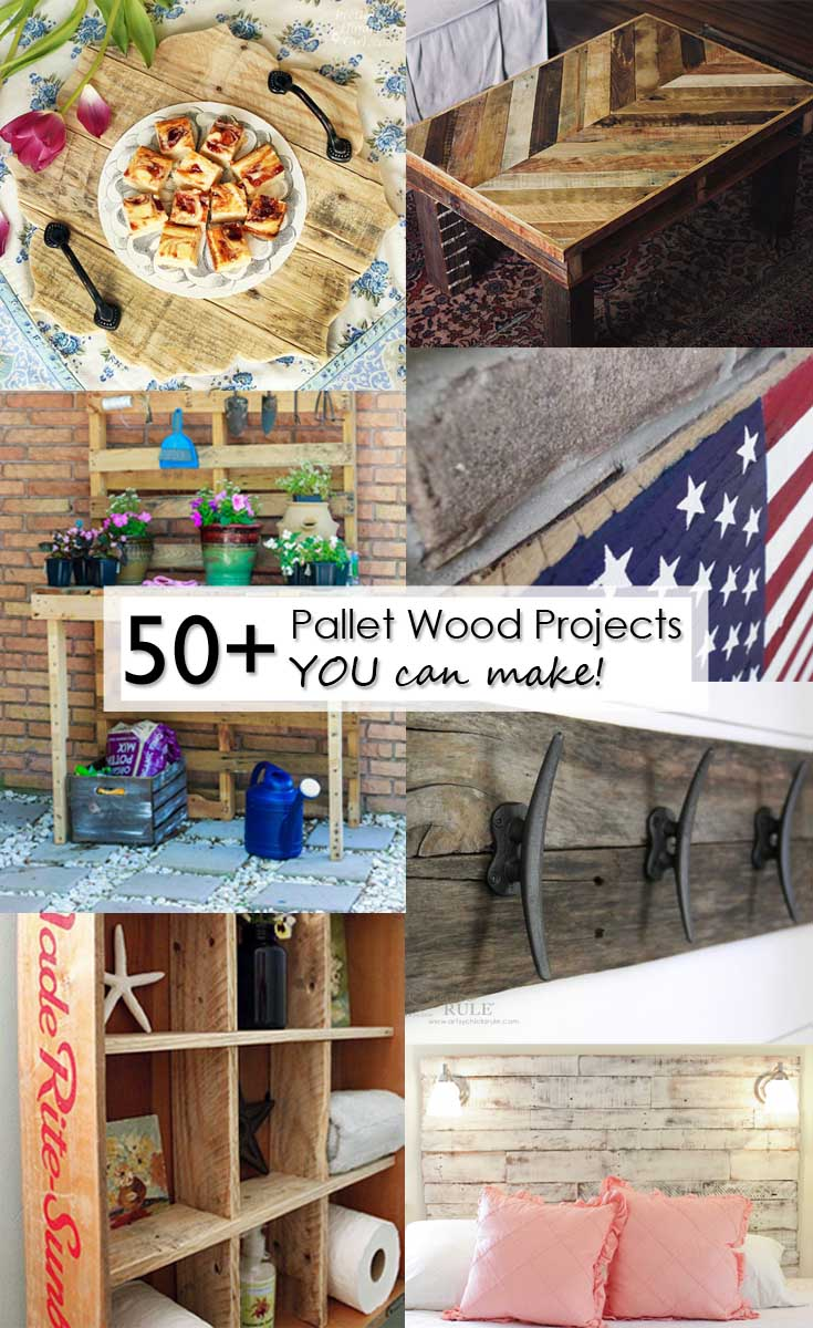 Come check out over 50 amazing Pallet Wood Projects that you can make! Easy and inexpensive, these builds are just what you're looking for!
