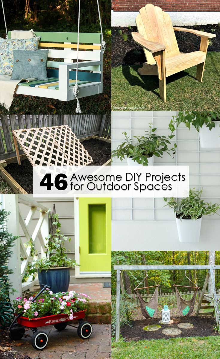 46 Awesome DIY Projects for Outdoor Spaces - Pretty Handy Girl