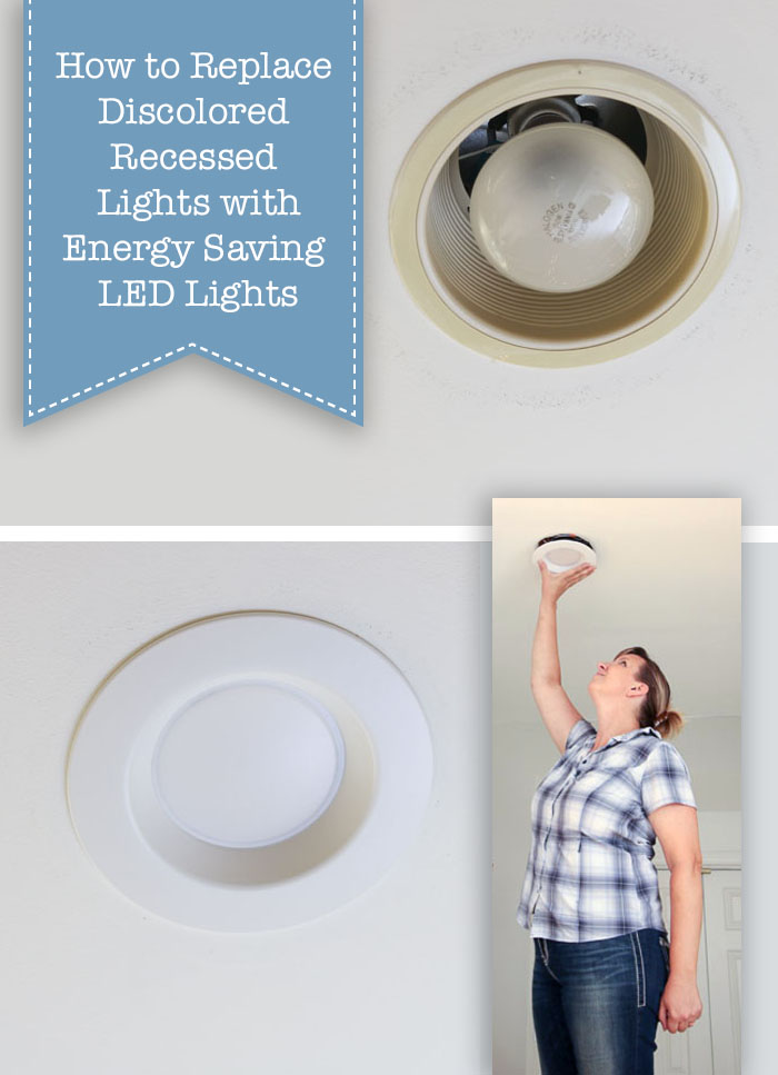 how to update ugly recessed can lights