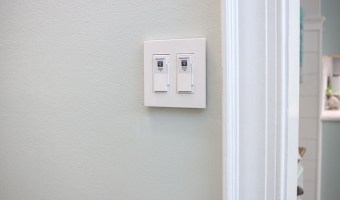 dimmer switches on wall