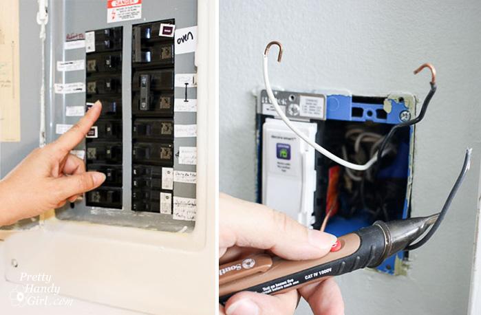 turn off circuit breaker test power