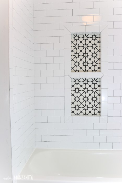 Making Manzanita's tile shower niche cement tiles