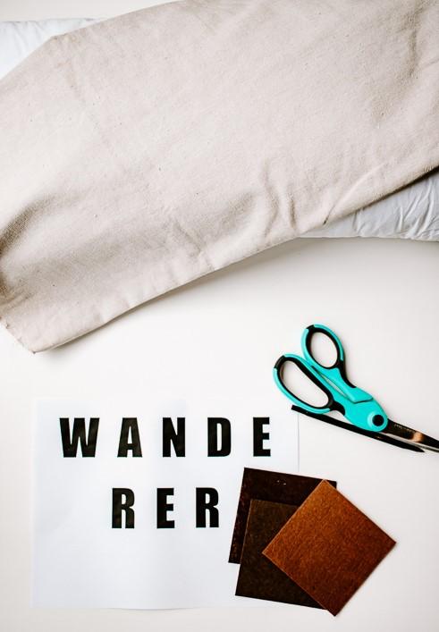 Materials Needed to make a DIY Felt Letter Pillow