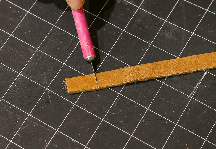 cut leather band to length