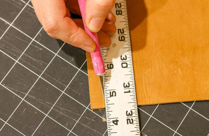 cut leather strip