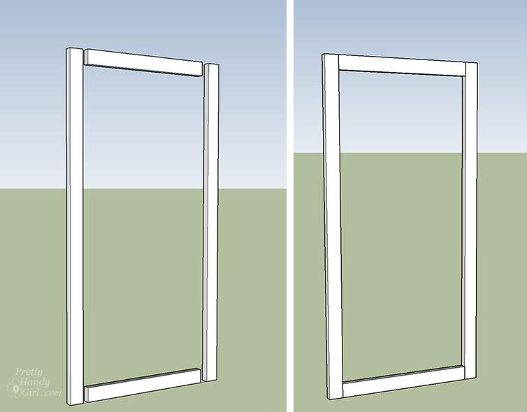 build 2x4 frame for gate