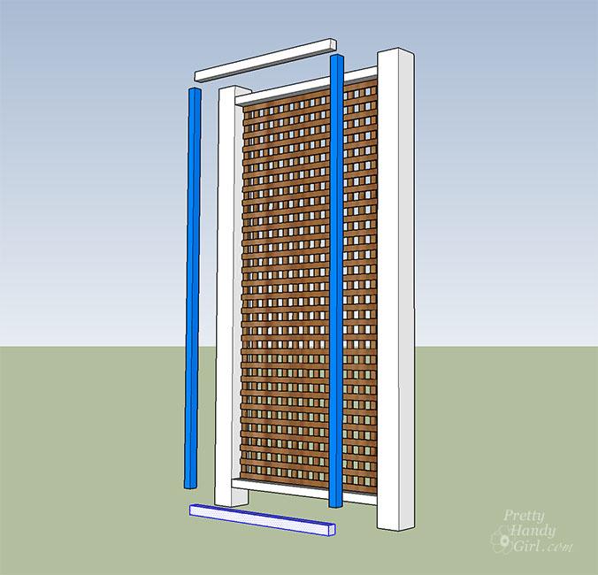 add 2x2 frame to secure lattice