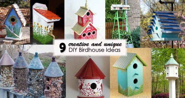 9 Creative and Unique DIY Birdhouse Ideas - Social Media Image